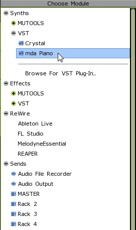 MULAB Installing and using VST modules